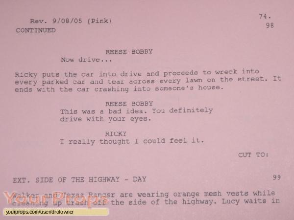 Talladega Nights  The Ballad of Ricky Bobby original production material