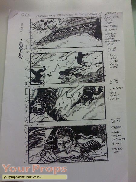Batman Begins original production artwork