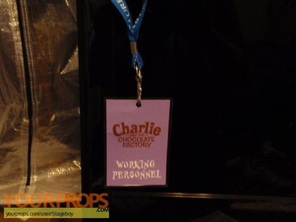 Charlie and the Chocolate Factory original film-crew items