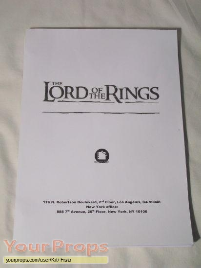 Lord of The Rings  The Return of the King original production material