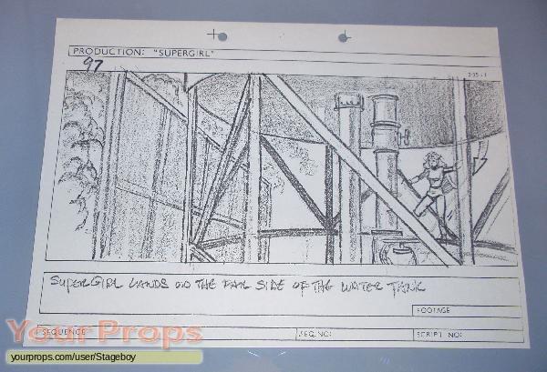 Supergirl original production artwork