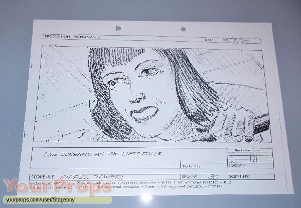 Superman II original production artwork