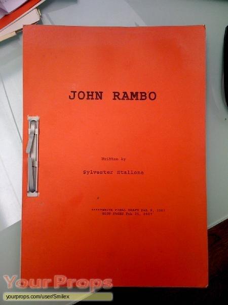 Rambo original production material