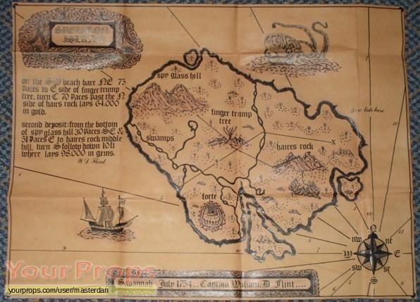 Treasure Island Treasure Island Map Replica Movie Prop