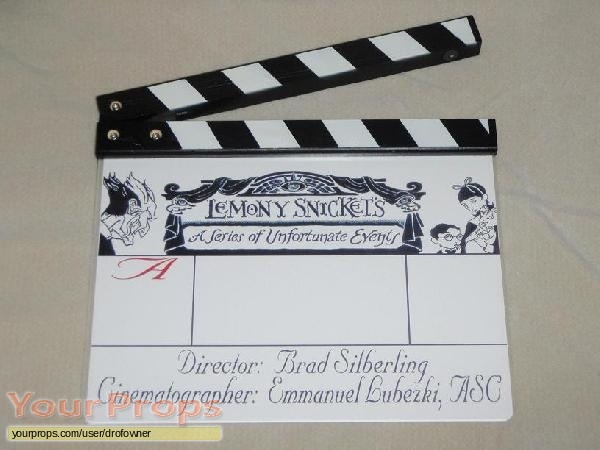 Lemony Snickets A Series of Unfortunate Events original production material