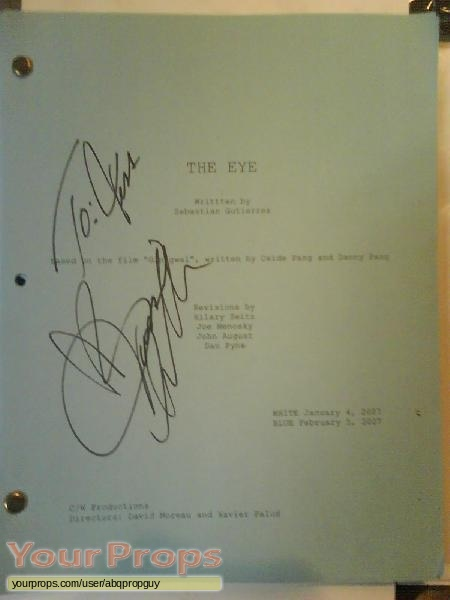 The Eye original production material