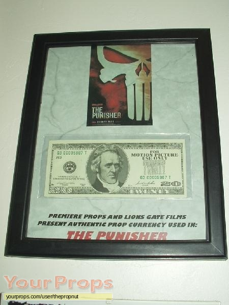 The Punisher original movie prop