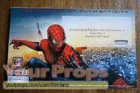 Spider-Man 3 original movie prop