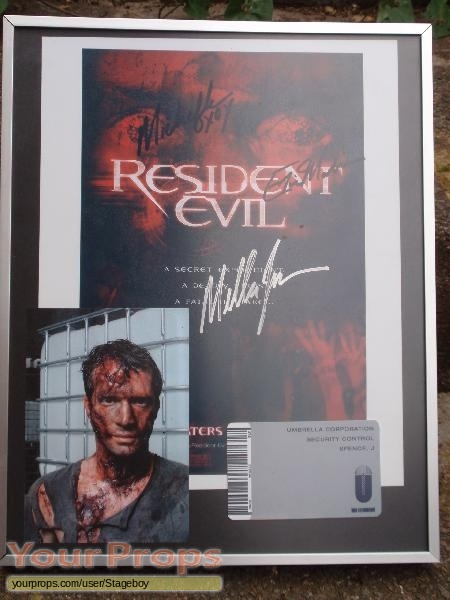 Resident Evil original movie prop