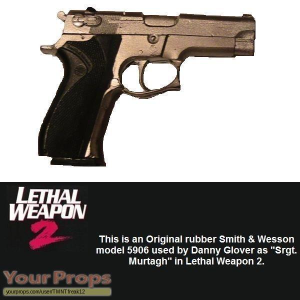 Lethal Weapon 2 original movie prop weapon