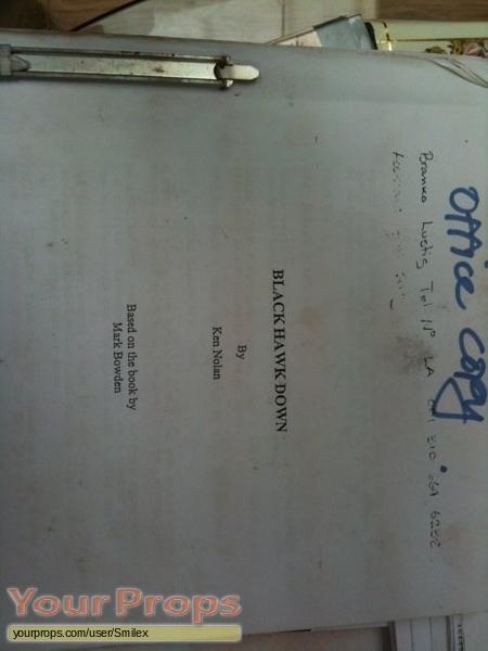 Black Hawk Down original production material