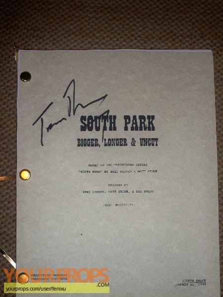 South Park original production material
