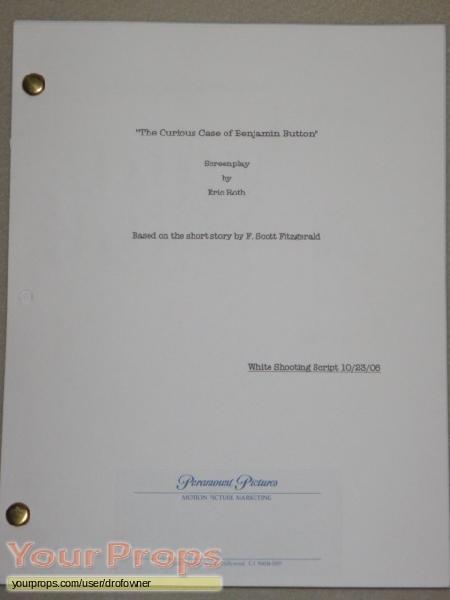 The Curious Case of Benjamin Button original production material