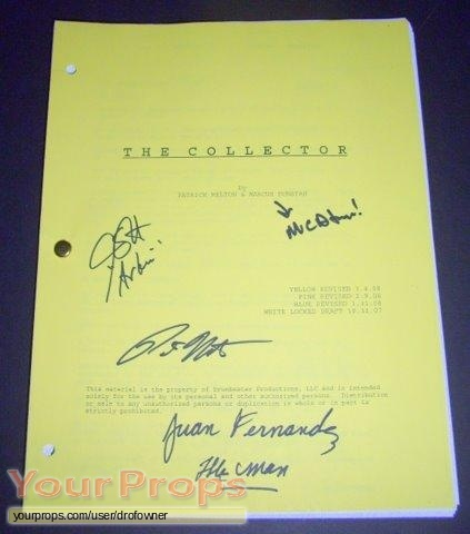 The Collector original production material