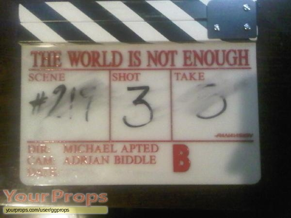 James Bond  The World Is Not Enough original movie prop