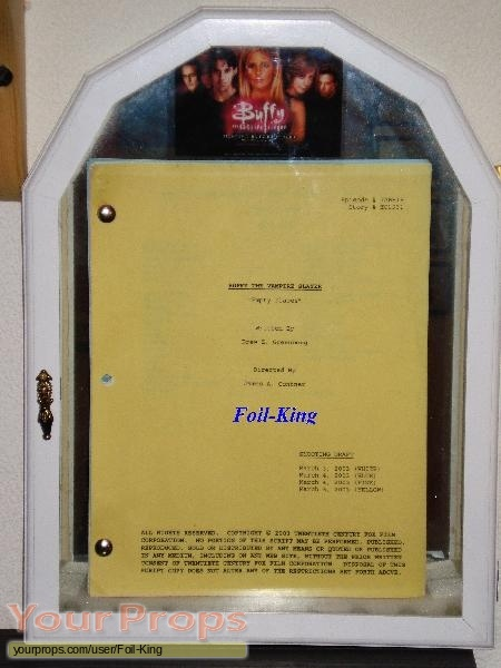 Buffy the Vampire Slayer original production material