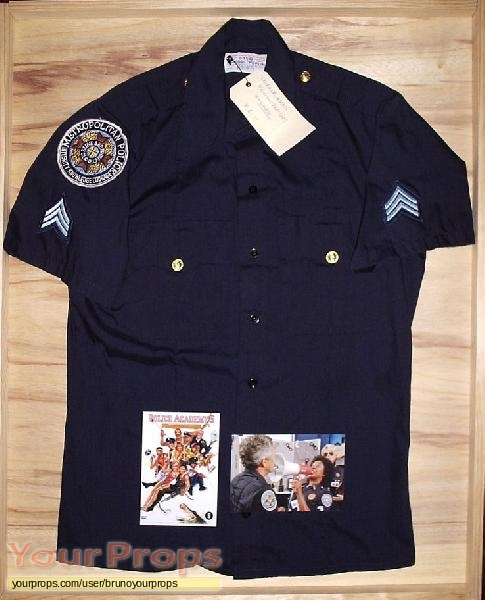 Police Academy 5 Assignment Miami Beach original movie costume & Police Academy 5: Assignment: Miami Beach Metropolitan Police Shirt ...