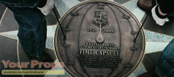 Knowing time capsule cover handles original movie prop