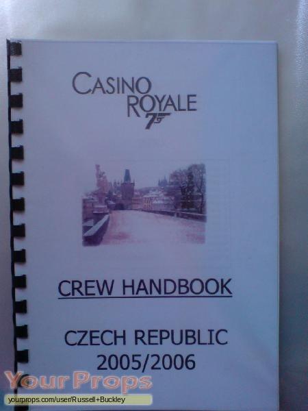 James Bond  Casino Royale original film-crew items