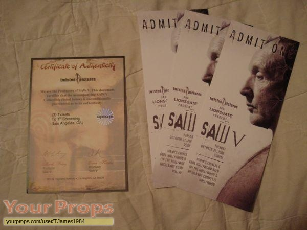 Saw V original production material