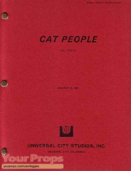 Cat People original production material