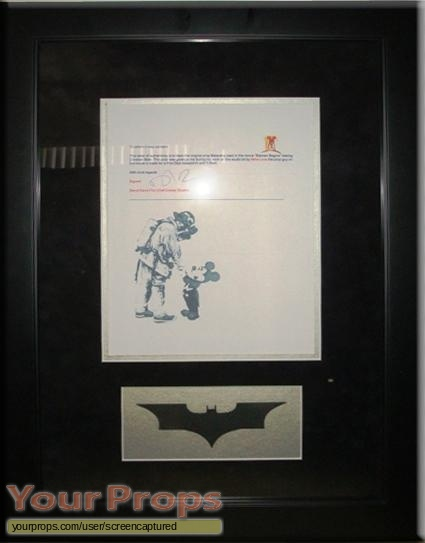 Batman Begins original movie prop weapon