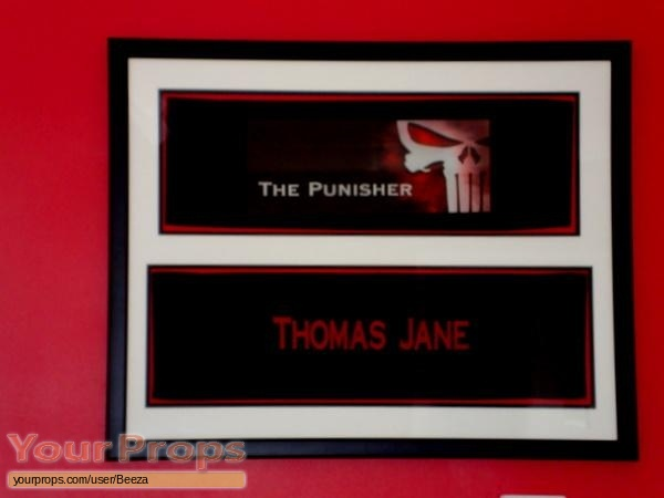 The Punisher original production material