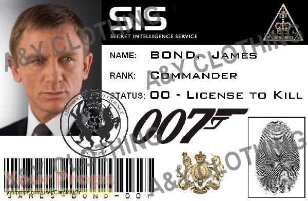 James Bond  Quantum of Solace replica movie prop