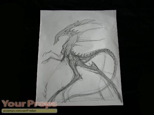 Alien vs  Predator original production artwork