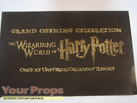 Harry Potter  Wizarding World (video game) replica production material