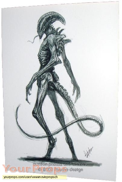 Alien vs  Predator original production artwork
