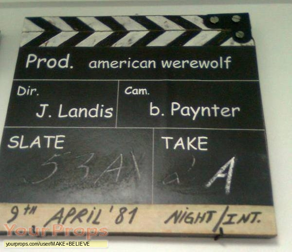 An American Werewolf in London replica production material