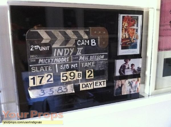 Indiana Jones And The Temple Of Doom original production material