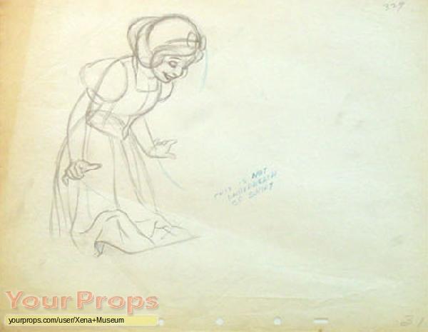 Snow White and the Seven Dwarfs original production artwork