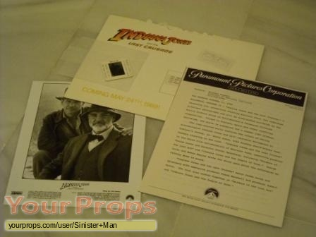 Indiana Jones And The Last Crusade original movie prop