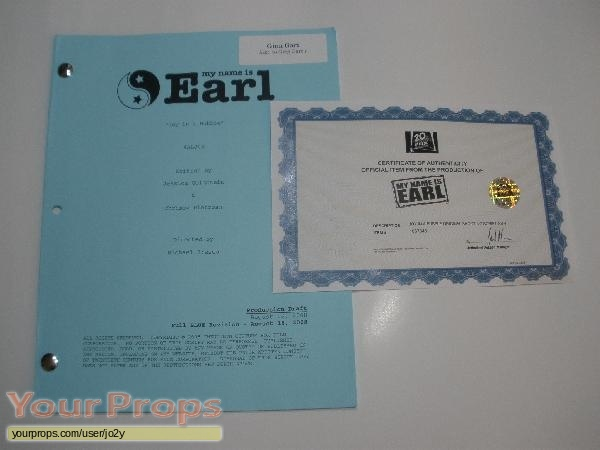 My Name Is Earl original production material