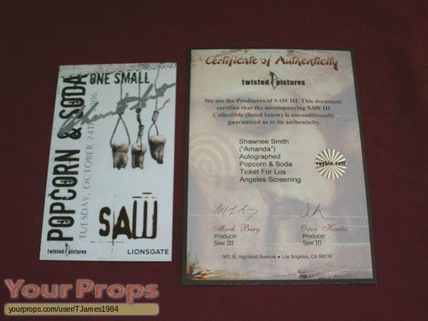Saw III original production material