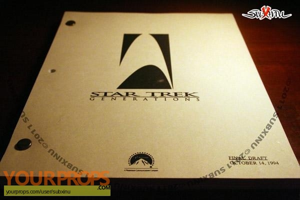 Star Trek  Generations original production material