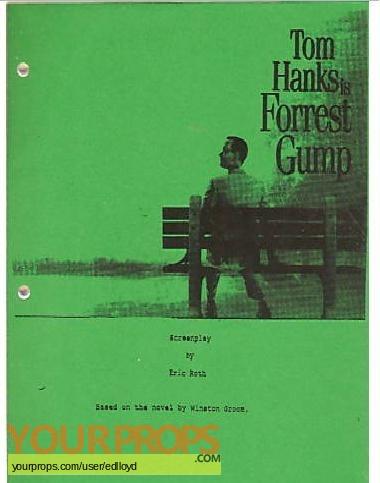 Forrest Gump original production material