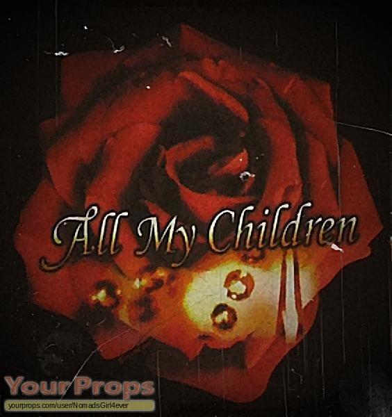 All My Children original movie prop