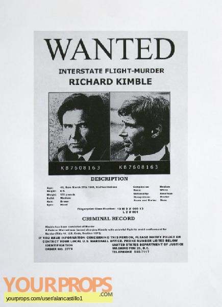 The Fugitive replica movie prop