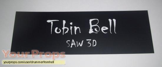 Saw 3D original production material