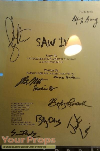 Saw IV original production material