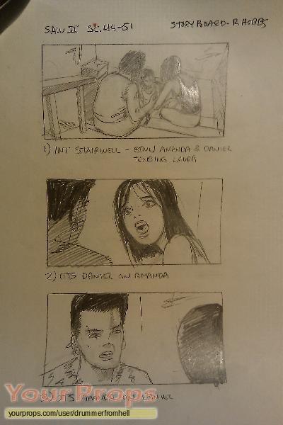 Saw II original production artwork