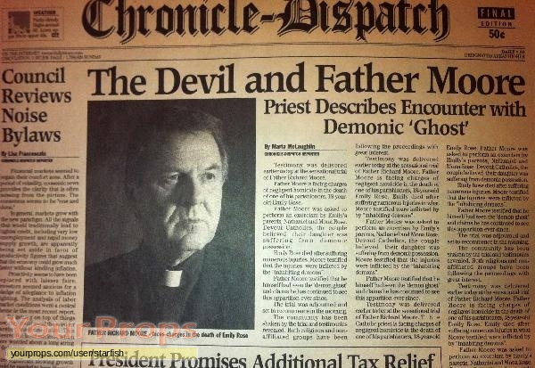 The Exorcism of Emily Rose original movie prop
