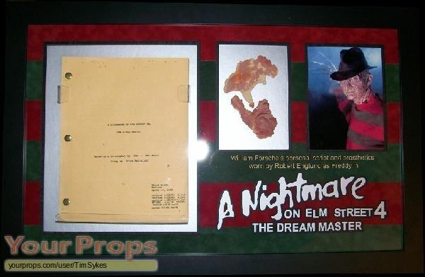 A Nightmare On Elm Street 4  The Dream Master original make-up   prosthetics