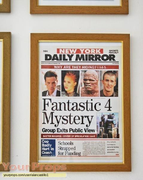 Fantastic Four replica movie prop