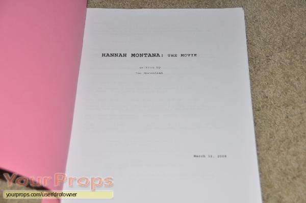 Hannah Montana  The Movie original production material