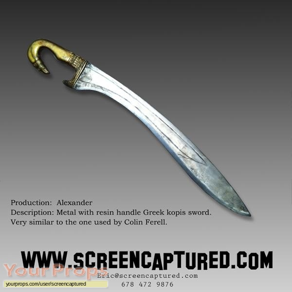 Alexander original movie prop weapon