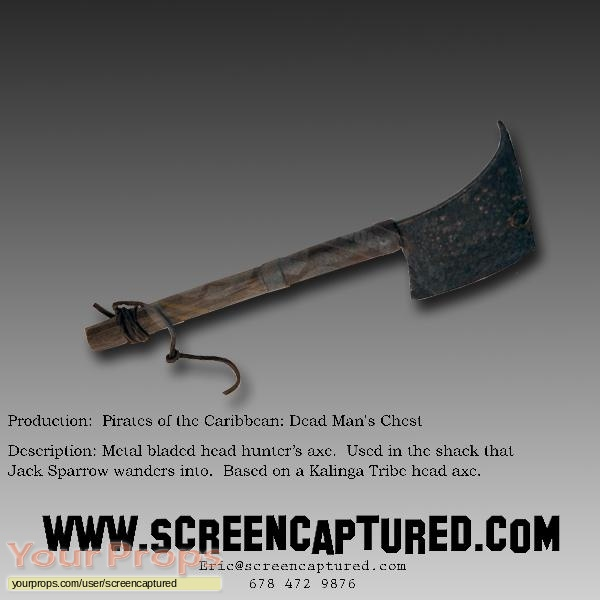 Pirates of the Caribbean  Dead Mans Chest original movie prop weapon
